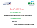Sport First Aid Course in Leitrim 2017