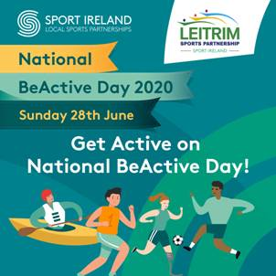 People of Leitrim challenged  to take part in BeActive Day 2020 on June 28th